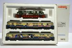 "MARKLIN 2872 Set Locomotive + 2 Wagons ""Pop Train"" DB BR E 04 (SEMI-NEW)"