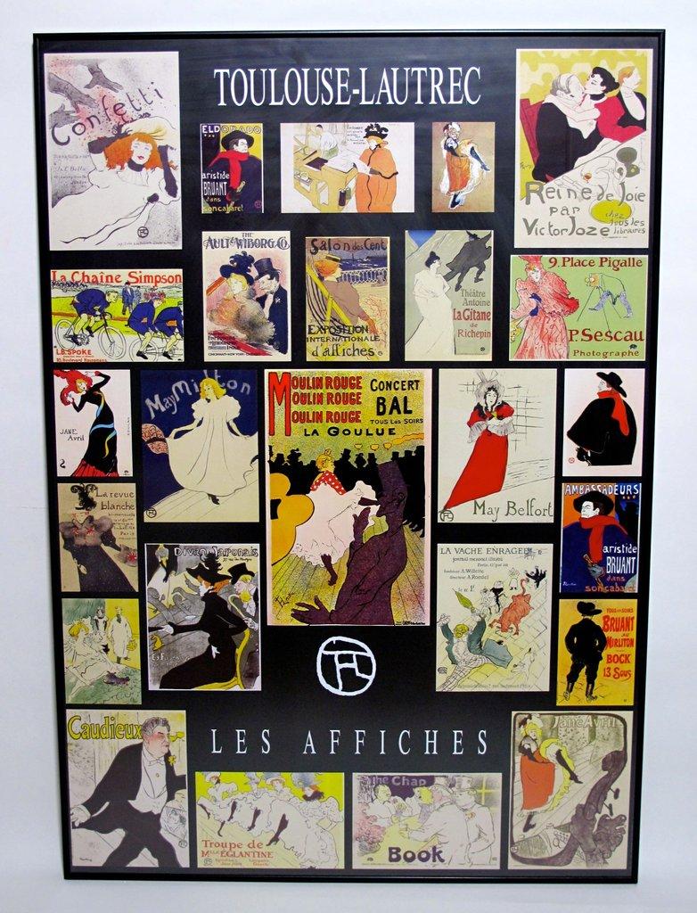 framed poster toulouse lautrec 100x70 cm www. Black Bedroom Furniture Sets. Home Design Ideas