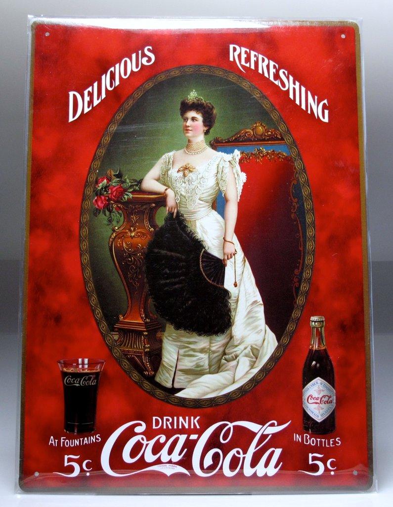 R 361 placa de chapa publicidad de coca cola www - Chapa coca cola pared ...