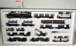 Marklin 26960 Freight Train Bavarians with Locomotive, 10 wagons and 2 trucks