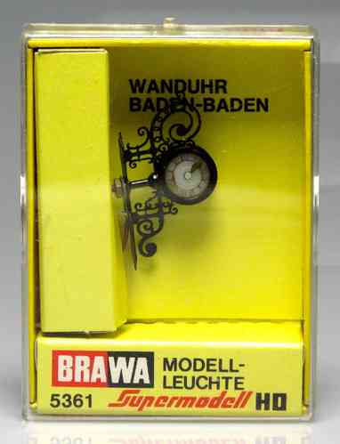 BRAWA 5361 classic wall clock banner Scale H0