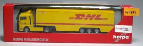 HERPA 149884 MAN trailer DHL amarillo