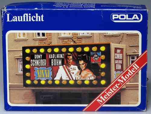 POLA 81 lighted fence for cinema advertising H0 Scale