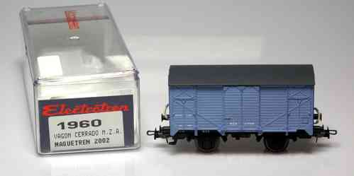 1960 Wagon ELECTROTREN closed M.Z.A. Maquetren Special Edition 2002