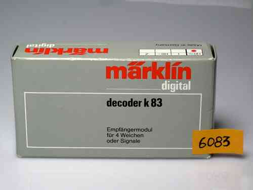 MARKLIN 6083 Decoder 83 K four turnouts or signals