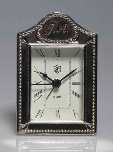 Quartz Clock Silver Frame 1st Law (EMPLOYEE MARKED WITH INITIALS JA)