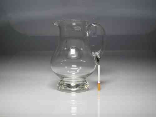 Glass water pitcher (ALMOST NEW) 23 cm. height