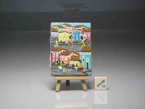 "Miniature Painting Easel ""Eeki"" (OWNED) 15 cm. height"