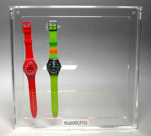 Showcase SWATCH methacrylate (SOLD WITHOUT CLOCKS)