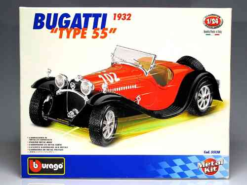 "1932 Bugatti ""TYPE 55"" (KIT METAL MOUNTED) SCALE 1:24"