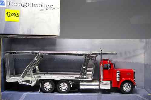 "NEW RAY 12003 Peterbilt 379 truck carrying cars ""NEW RAY"" SCALE 1:32"