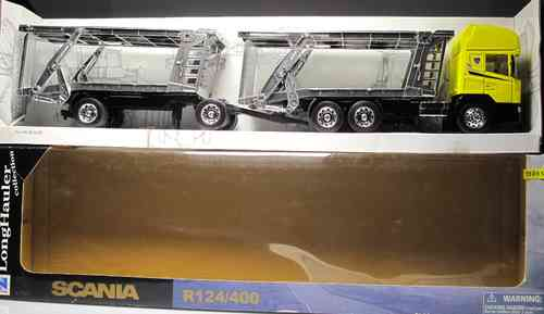 "NEW RAY Trucks Scania R 124/400 11743 car holder ""NEW RAY"" SCALE 1:32"