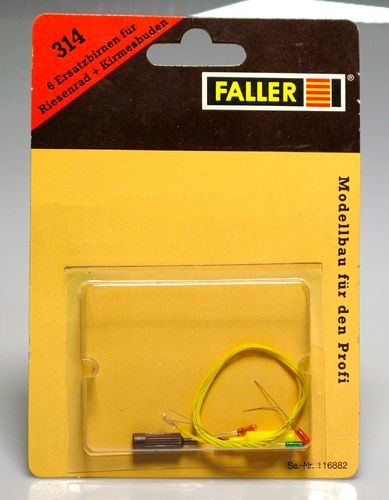 FALLER 314 Set six lights to wheel fittings