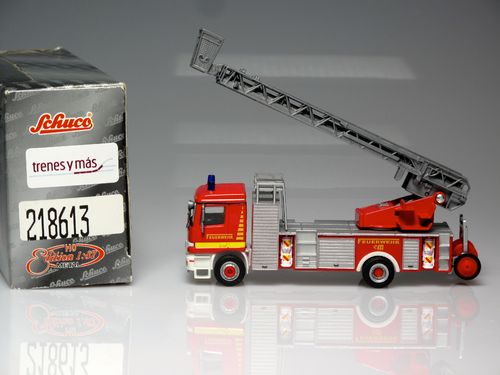 Metal fire truck auto-scale Mercedes-Benz Actros Type 2  1:87