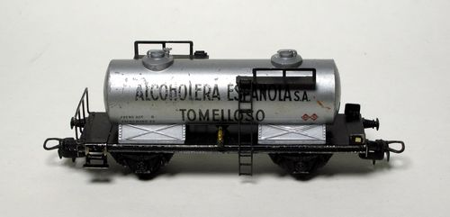 "ELECTROTREN R 614 Cistern wagon Repsol""ALCOHOLERA ESPAÑOLA S.A."" Tomelloso 1ª epoch H0 (WITHOUT BOX)"